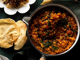Slow-cooker silver beet dhal