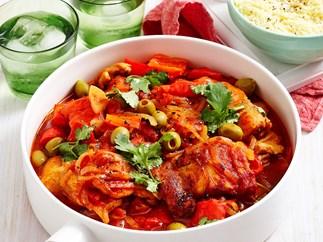 Spanish chicken and capsicum casserole