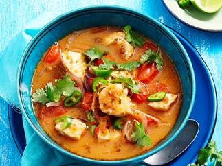 Mexican spicy fish soup