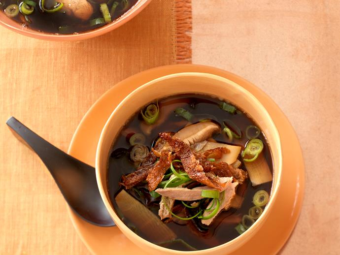 """Succulent, juicy [duck and hearty mushroom soup](https://www.womensweeklyfood.com.au/recipes/duck-and-mushroom-soup-29004 target=""""_blank"""") - full of wholesome, authentic Asian flavours, this is perfect combination for dinner tonight!"""