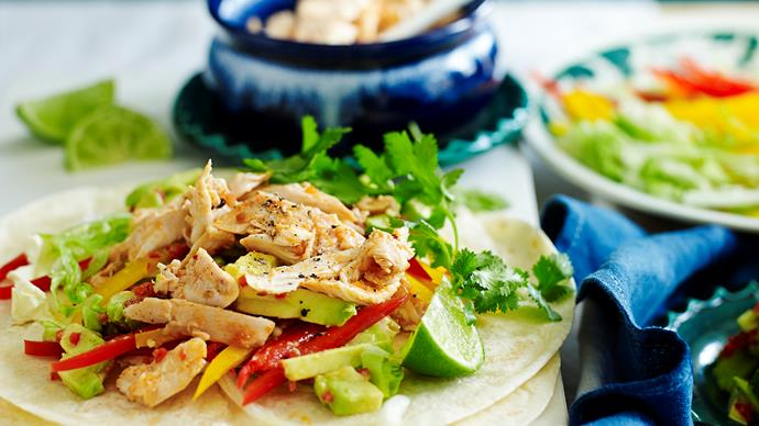 Spicy chicken tortillas