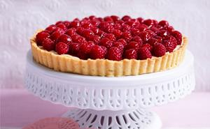 French raspberry tart