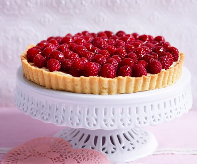 French raspberry tart