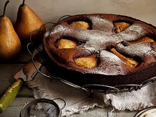 Flourless chocolate cake with crème chantilly