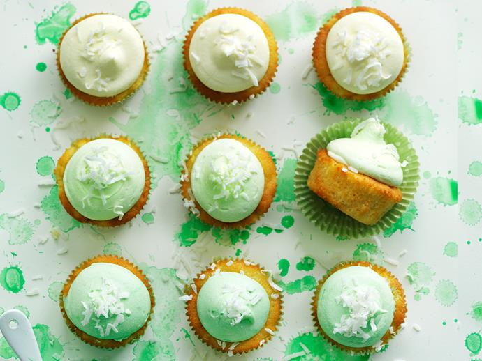 """**[Piña colada cupcakes](https://www.womensweeklyfood.com.au/recipes/pina-colada-cupcakes-29049