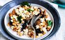 Baked bean and ricotta-stuffed mushroom