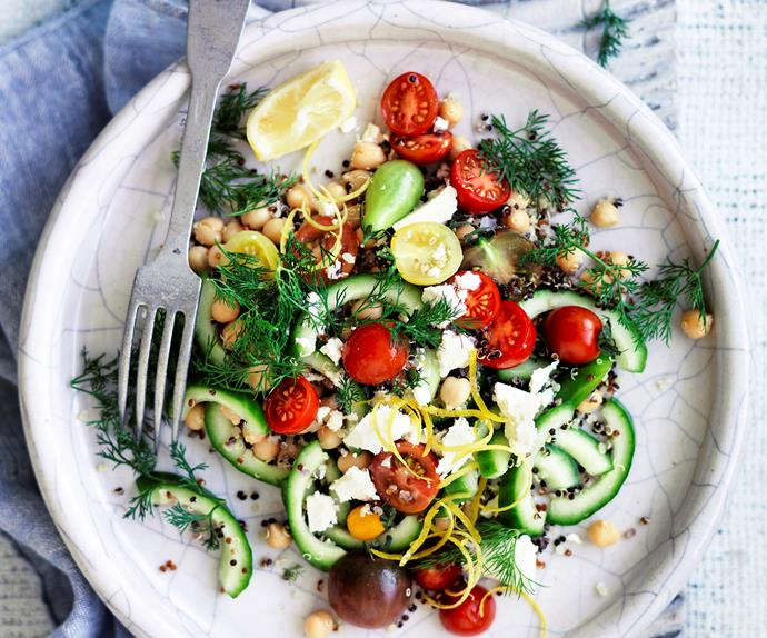 Lemon and dill chickpea salad