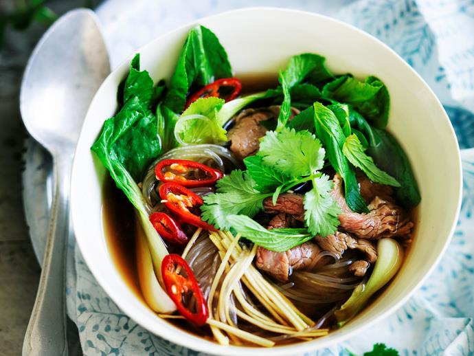 "**[Sour Vietnamese soup](https://www.womensweeklyfood.com.au/recipes/sour-vietnamese-soup-29062|target=""_blank"")**  Light, fresh, and full of mouthwatering flavour. Suitable for the 2-Day Fast Diet."