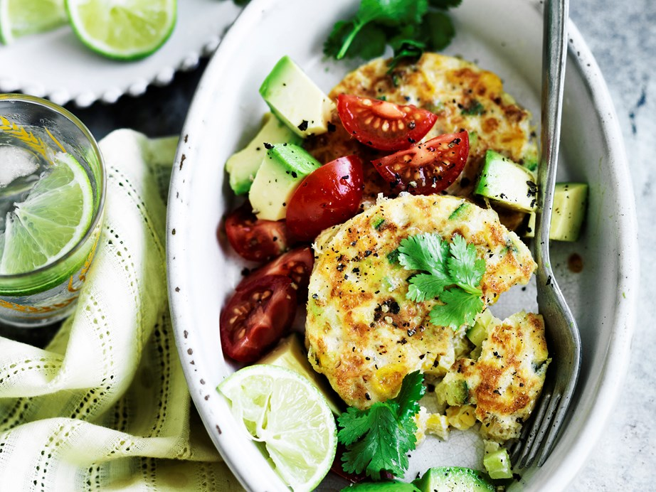 """**[Zucchini and corn fritters](https://www.womensweeklyfood.com.au/recipes/zucchini-and-corn-fritters-29066