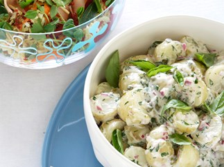 Salsa verde potato salad