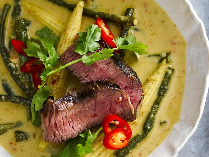 """A classic Asian dish, this [spicy panang curry](http://www.womensweeklyfood.com.au/recipes/beef-panang-curry-16505