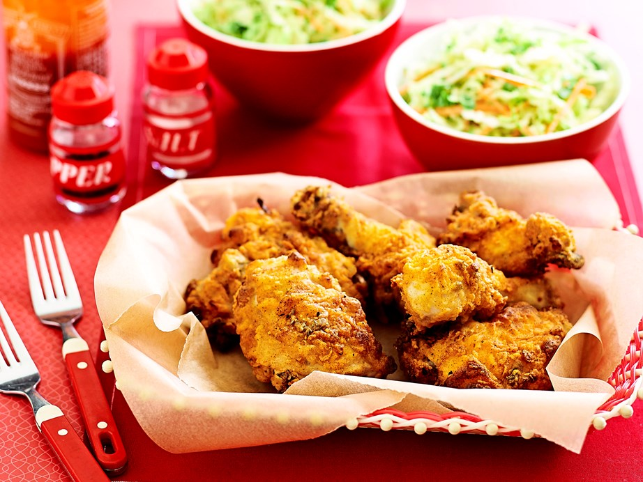"These **[Southern fried chicken](https://www.womensweeklyfood.com.au/recipes/southern-fried-chicken-29030|target=""_blank"")** pieces really are finger-licking good."