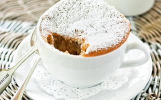 Feijoa sponge pudding