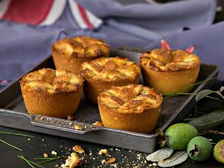 Feijoa pies with sugar lattice crust