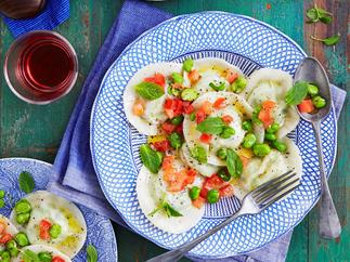 Broad bean ravioli