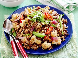 Lamb, rice and cauliflower salad