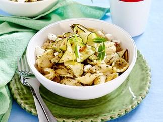 Pesto zucchini pasta