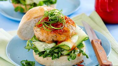 Thai fish burgers