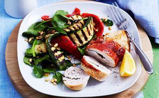 Feta and prosciutto chicken breast