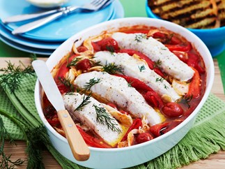 Baked sweet and sour fish