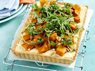 Quinoa, ricotta and pumpkin tart