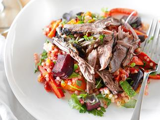 Spicy roasted lamb salad with couscous
