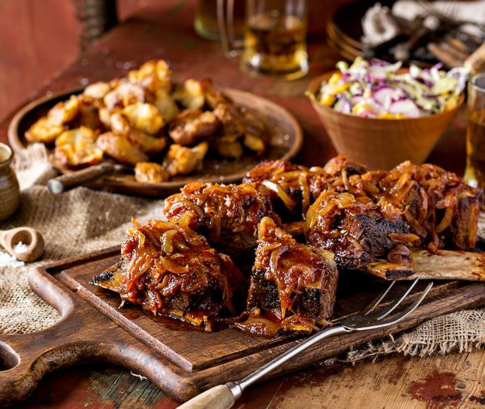 Sticky Beef Short Ribs With Harvest Slaw Recipe Food To Love