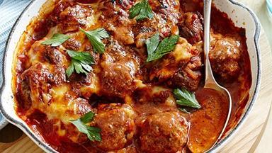 Parmigiana meatballs