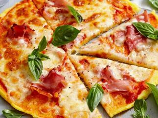Polenta crust pizzas for $2.30 per serve