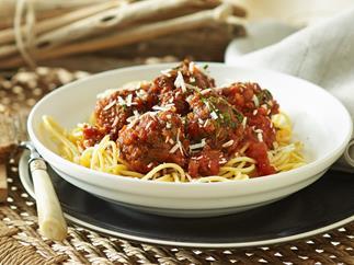 Italian meatballs in tomato sauce