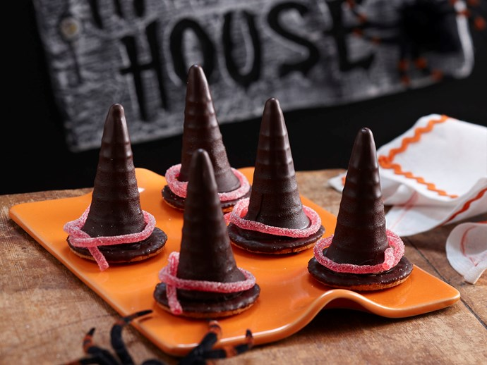 "Melting witches hats, recipe via our sister site, [*Women's Weekly Food*](http://www.foodtolove.com.au/recipes/melting-witches-hats-27117|target=""_blank"")."