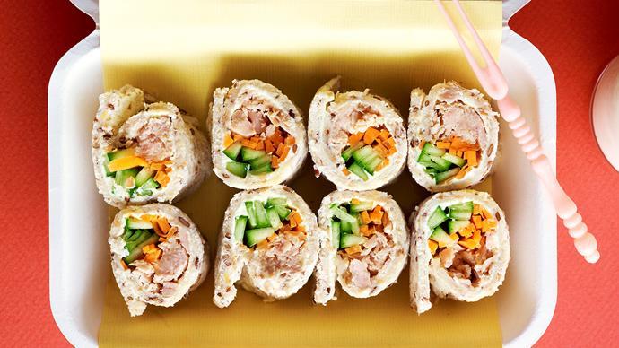 Tuna sushi sandwiches