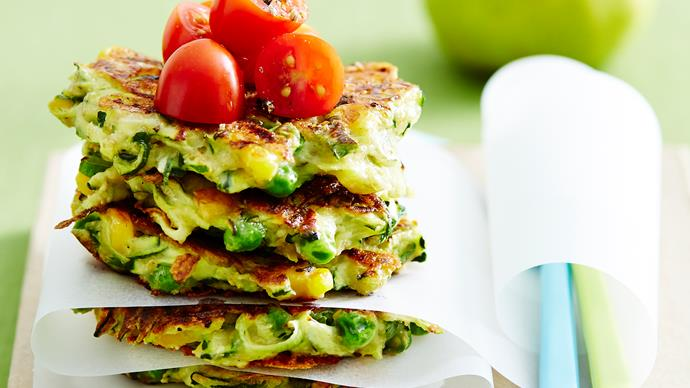 Zucchini and cheese fritters