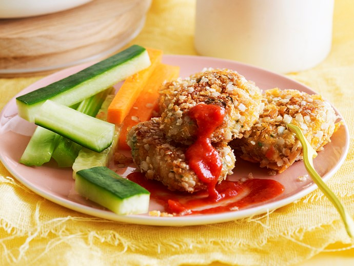 [Crunchy chicken nuggets for recipe click here](http://www.foodtolove.com.au/recipes/crunchy-chicken-nuggets-27158)