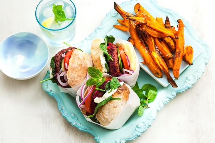 "**[Beetroot and lentil burgers](https://www.womensweeklyfood.com.au/recipes/beetroot-and-lentil-burgers-29172|target=""_blank"")** Everyone will love these beetroot and lentil burgers! Healthy, wholesome and mouthwatering-delicious!"