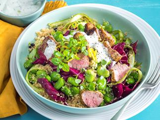 Moroccan lamb and radicchio salad