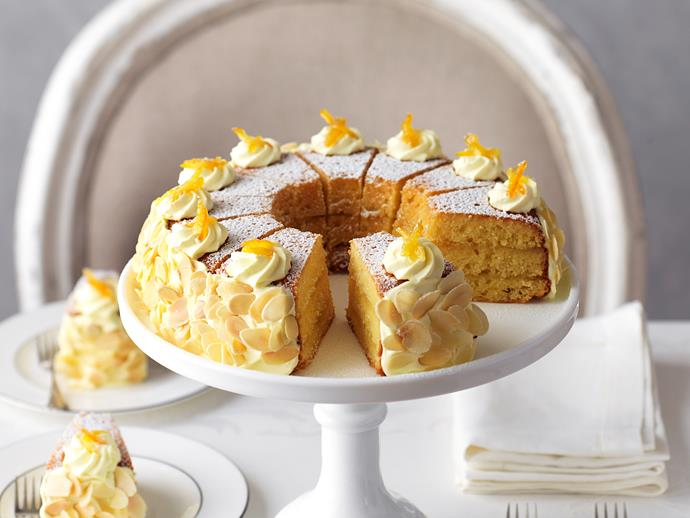 """**[Orange almond Victoria sponge](https://www.womensweeklyfood.com.au/recipes/orange-almond-victoria-sponge-29189