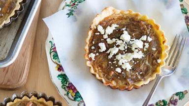 Caramelised onion & thyme tart
