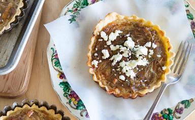 Caramelised onion & thyme tart