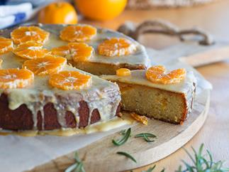 Mandarin and rosemary cake