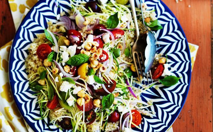 Healthy quinoa salads