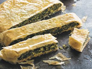 Chard and wild greens pie