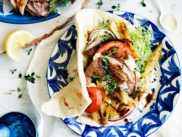 "[**Lamb and potato gyros**](http://www.womensweeklyfood.com.au/recipes/lamb-and-potato-gyros-29226|target=""_blank"") Swap the bread for a wrap and give leftover slow-roasted lamb a new starring role in this Greek-style combo."