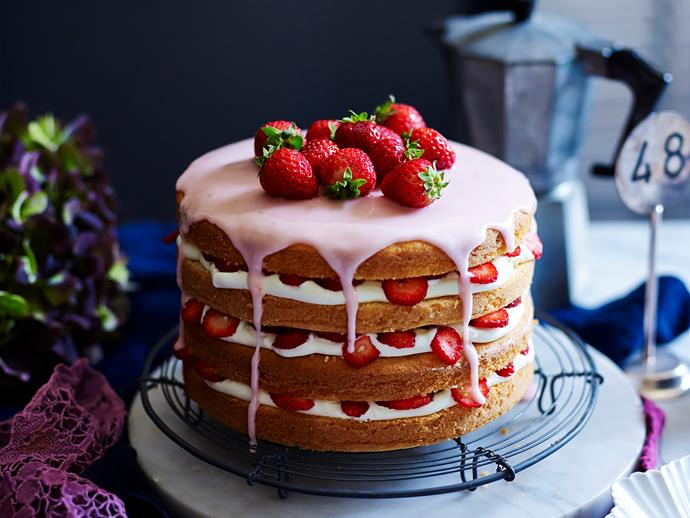 "**[Gluten-free strawberries and cream layer cake](https://www.womensweeklyfood.com.au/recipes/gluten-free-strawberries-and-cream-layer-cake-29239|target=""_blank"")**  The classic combination of strawberries and cream, and the goodness of gluten-free. A delicious dessert or sweet treat everyone can enjoy!"