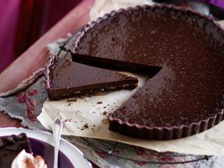 Julie Goodwin's dark chocolate and marmalade tart