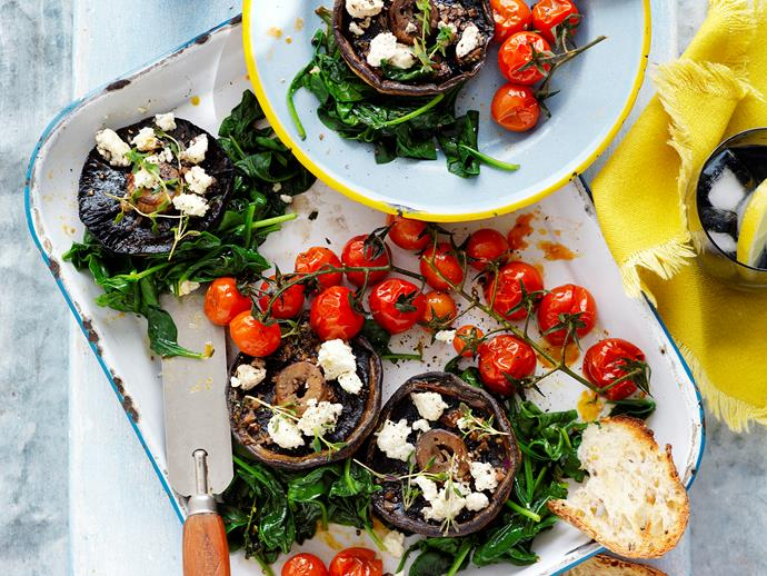 """Tender, flavoursome [roasted field mushrooms](https://www.womensweeklyfood.com.au/recipes/roasted-field-mushrooms-29251