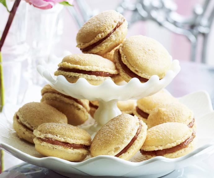 CINNAMON AND SOUR CHERRY MACAROONS