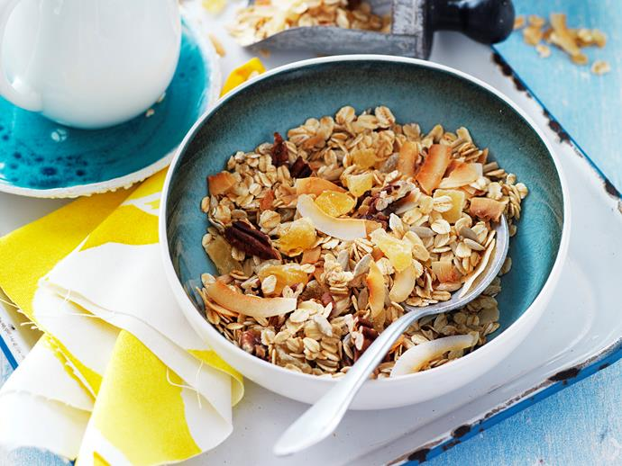 "If your mum likes it sweet, try our **[baked pina colada granola recipe.](https://www.womensweeklyfood.com.au/recipes/baked-pina-colada-granola-29269|target=""_blank"")** She'll love the personal touch, and can enjoy it for the week ahead."