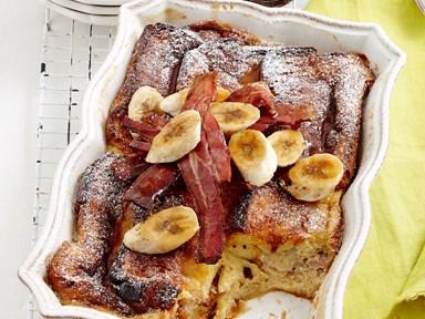 Banana brioche bake