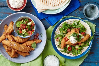 Beer-battered fish tortillas